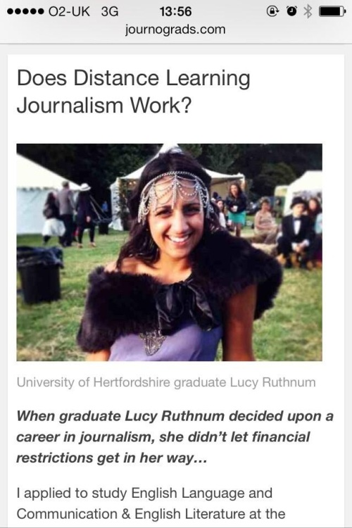 Does Distance Learning Journalism Work?