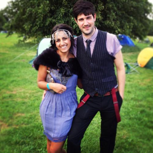 At Wyndstock in the summer with the boyfriend