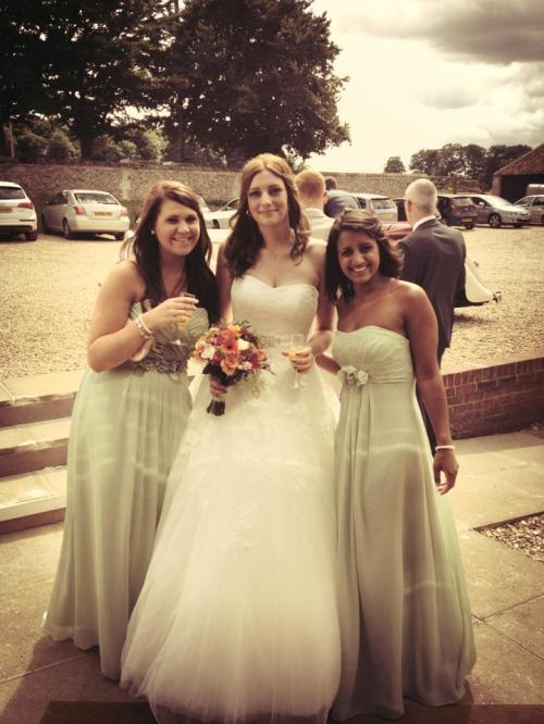 Three best friends at the Wedding