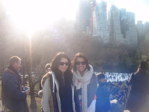 Me and Laura in Central Park on Christmas Day