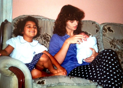 Me and Mum with baby Laura