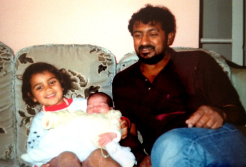 Me, baby Laura and Dad